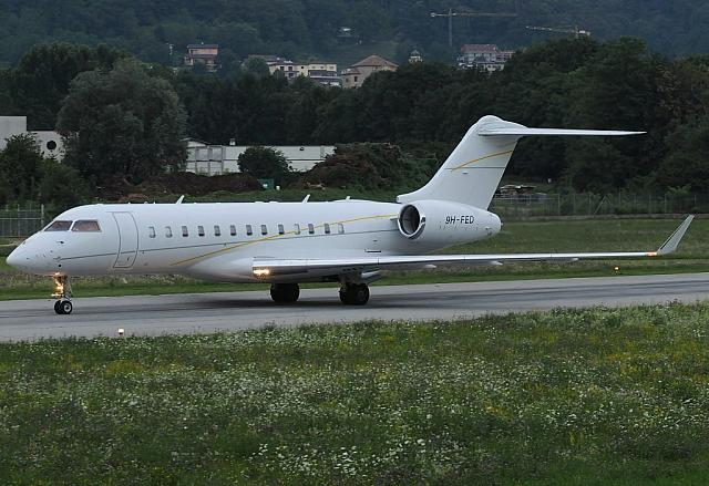 9H-FED GLEX (20.07.2012) The very last biz of the day... :-)