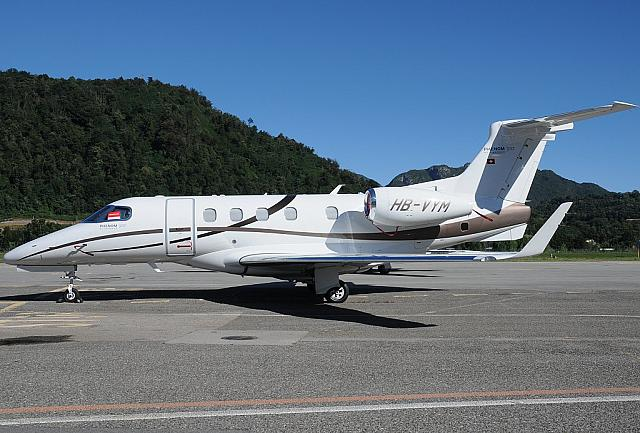 HB-VYM E55P (26.08.2012) For the first time at Lugano-Agno. Former G-GEIR.