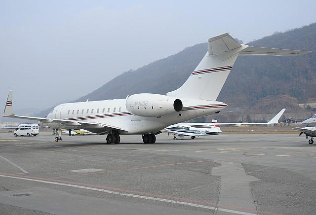 M-RIDE GL5T (20.02.2012) First visit at Lugano-Airport. Former PR-XDN and N99XN.