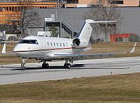 G-SFRI CL60 (24.02.2012) First visit at Lugano-Airport, former C-GEYD.