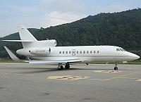 VQ-BJW F900 (08.10.2012) For the first time at LSZA. Welcome in Ticino!