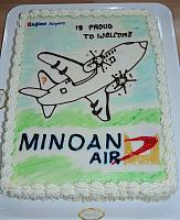 Minoan Air: welcome at Lugano-Airport! (29.03.2013)